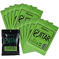 TX-1 Single String Replacement for Acoustic Folk Guitar 1st E-String (.011) 10-Pack High-Carbon Steel Core 75/25…
