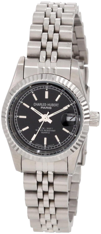 Charles - Hubert Stainless Steel - Black Dial Armbanduhr LADIES