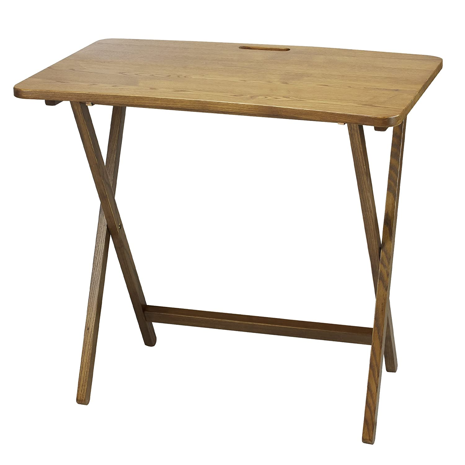 PRESTO PRODUCTS COMPANY American Trails Arizona Folding Table with Solid Red Oak
