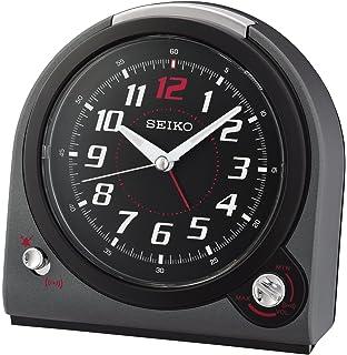 Seiko QHK029J Selectable Bell/Beep Alarm Clock With Volume Control, Black,  14.2 X