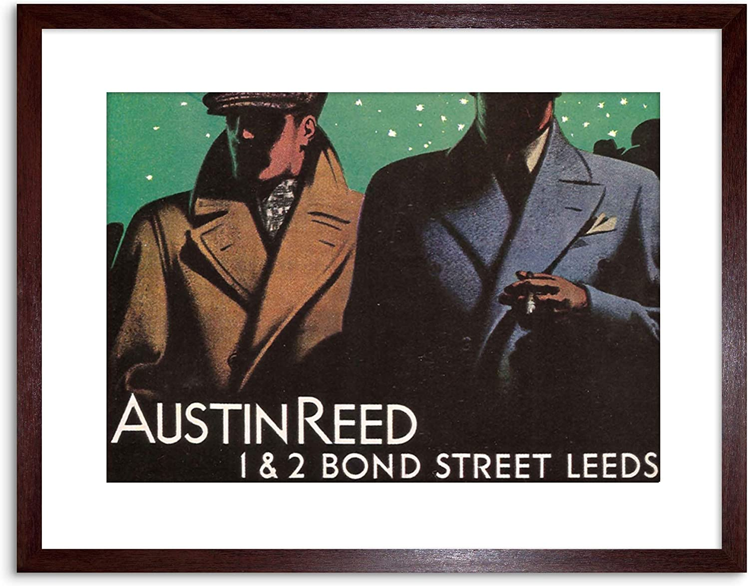 Wee Blue Coo Ad Austin Reed Bond Street Leeds Yorkshire Framed Print F97x2525 Amazon Co Uk Kitchen Home