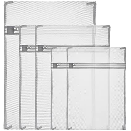 05190d442e2fb Zacro Laundry, White Zippered Mesh Washing Bags-Set of 5 (Small 2 ...