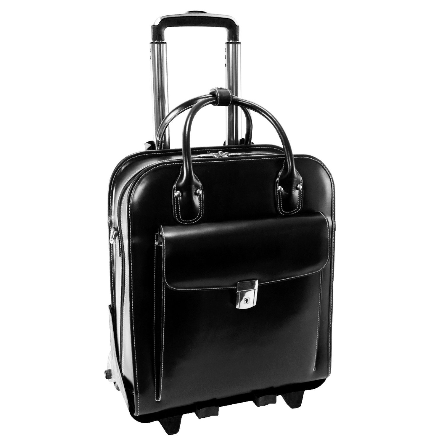 McKlein USA LA GRANGE W Series Vertical Detachable-Wheeled Briefcase in Black by McKlein USA
