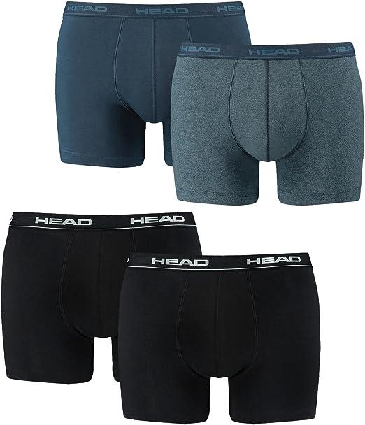 Head 841001001 – Set de 4 bóxeres cortos para hombre: Amazon.es ...