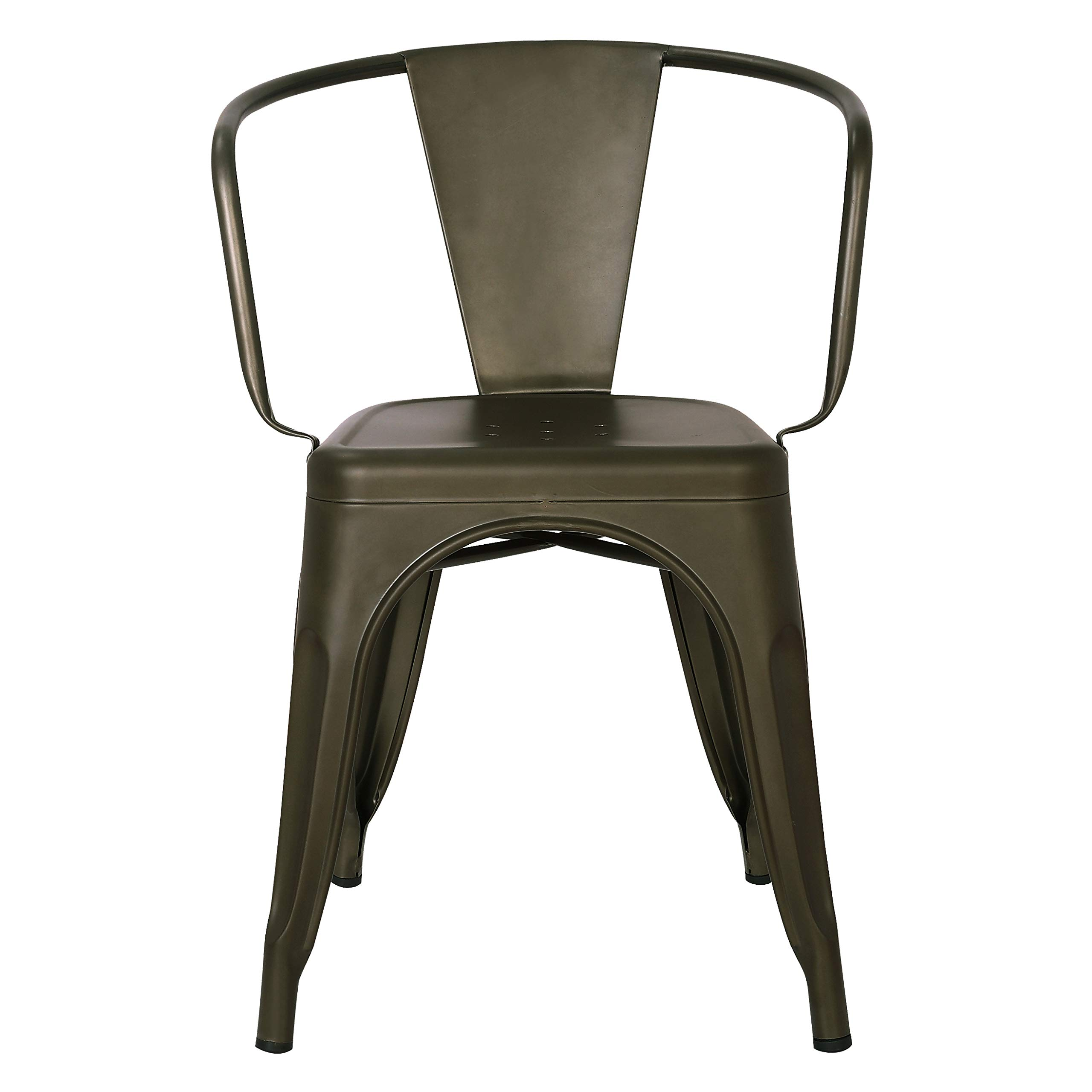 Poly and Bark Trattoria Arm Chair in Bronze (Set of 4) by POLY & BARK (Image #3)