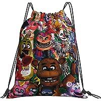 Five nights at freddy's bear Drawstring Backpack Women Men Travel Rucksack for Boy Girl Shopping Sport Yoga