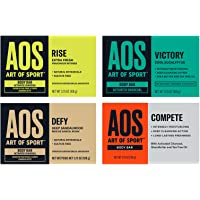 Art of Sport Variety 4pk Body Bar Soap - Try All 4 Fresh Scents - Activated Charcoal Soap with Natural Botanicals Tea…