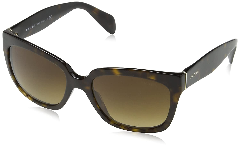 2a1957fe8f55d Prada Contemporary Square Sunglasses in Black PR 07PS 1AB0A7 56  Amazon.ca   Shoes   Handbags