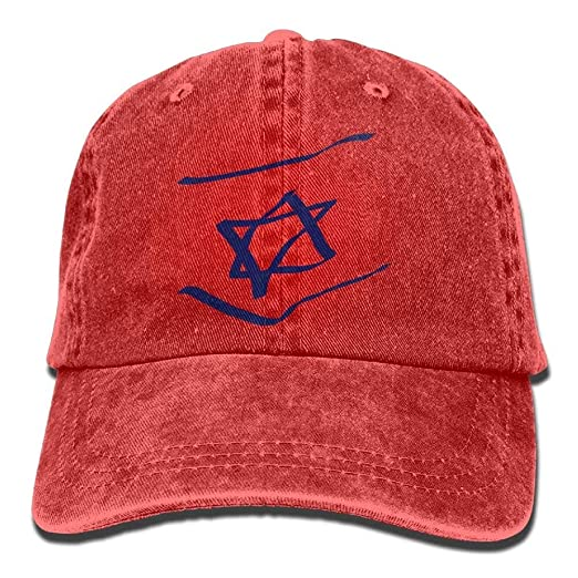 04133e6ab52 Image Unavailable. Image not available for. Color  Abstract Israel Flag  Denim Hat Adjustable Women s Flag Baseball Cap