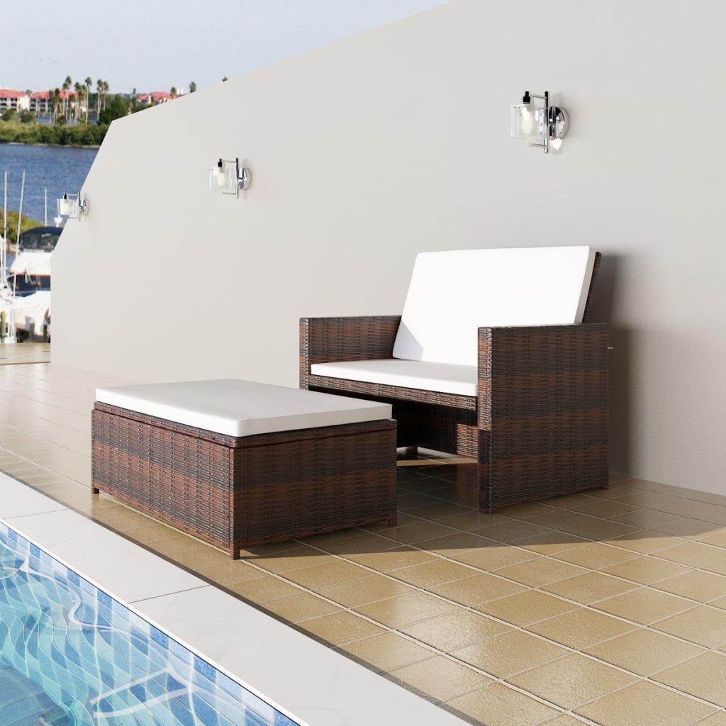 Daonanba Versatile Sturdy 3 in 1 Sofabed Set Foldable Rattan Sofa Bed Practical Furniture Set