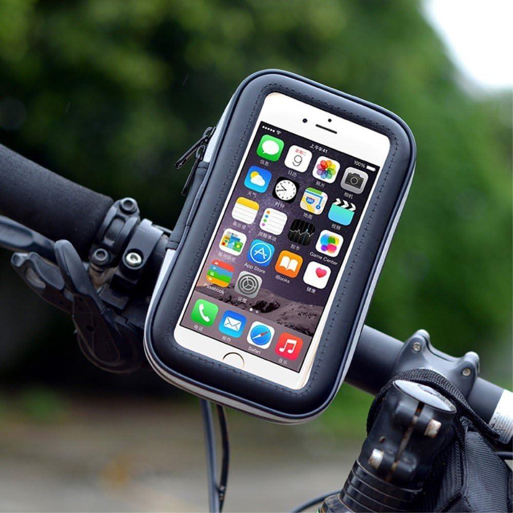 - Noir 2017 5,8 DFV mobile Support Professionnel R/éflecteur pour Le Guidon de Bicyclette et la Moto Imperm/éable Rotative 360 Compatible avec Samsung Galaxy S8