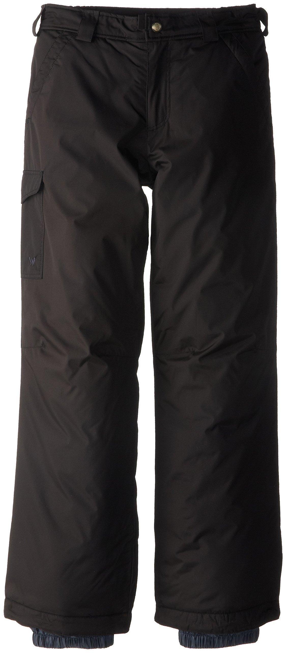 White Sierra Boy's Bilko Pant, Black, Large