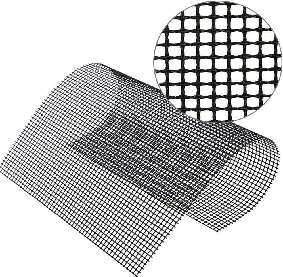2 BBQ Grill Mat Reusable Durable Easy to Clean for Grilling Cooking Baking Barbecue 2 Mesh Mat Set Non Stick Oven Liner Teflon Cooking Mats Barbecue Baking Mesh Mats