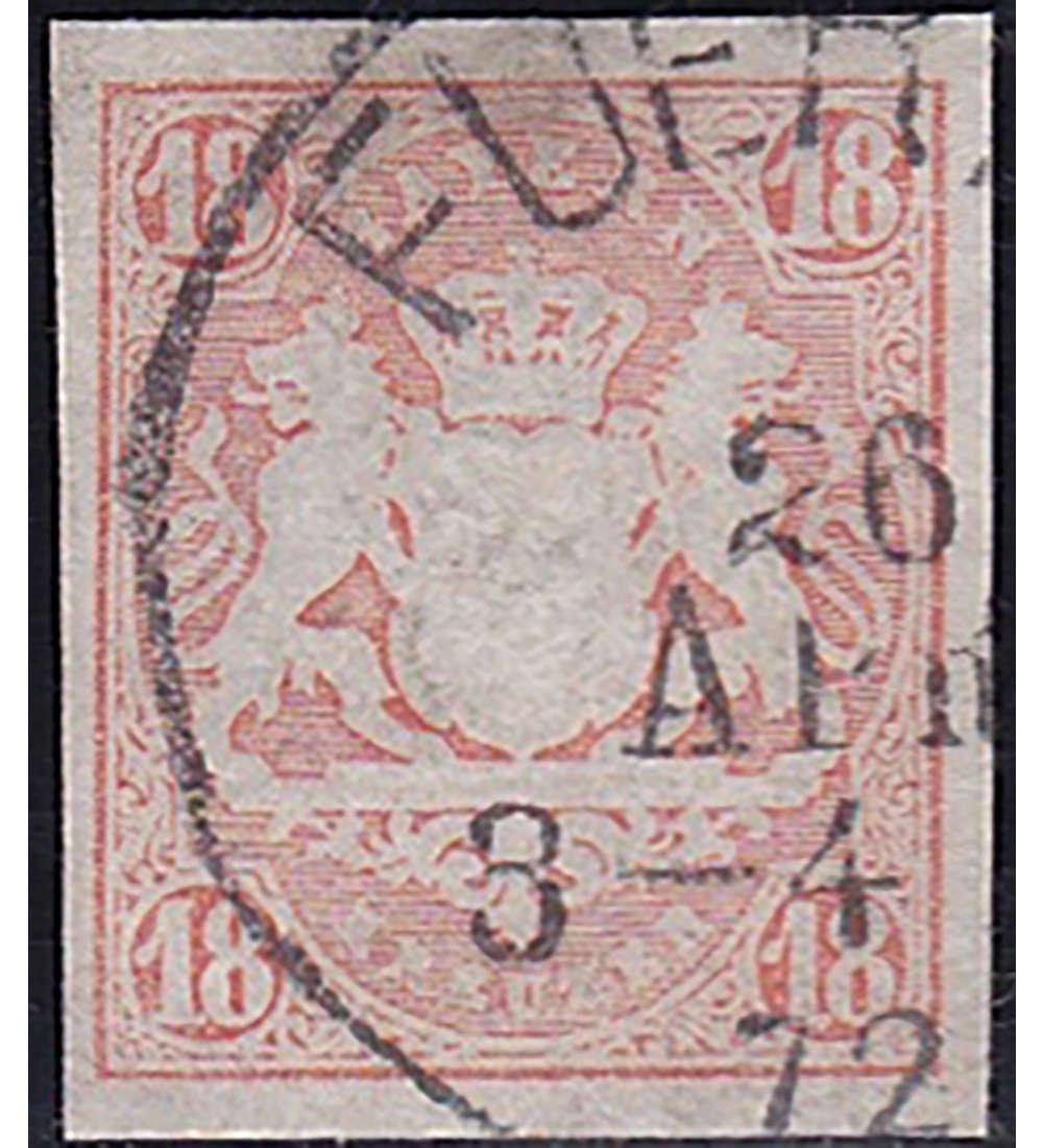 Goldhahn Bayern Nr. 19 gestempelt geprüft Briefmarken für Sammler