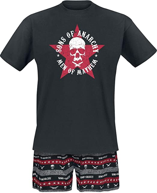 Sons of Anarchy Men of Mayhem Pijama Negro S: Amazon.es ...