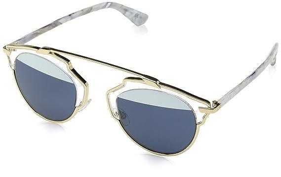 66b8b9df26 Amazon.com  Dior SoReal Sunglasses 48 mm Gold Aqua  Clothing