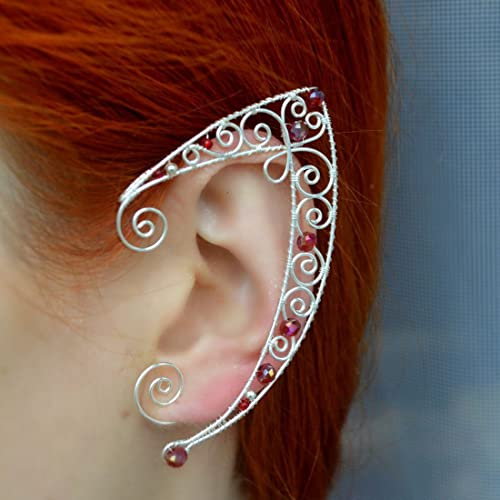 43078acb6 Image Unavailable. Image not available for. Color: A Pair Magic Earrings  Elven Ear Cuff Vintage Silver ...
