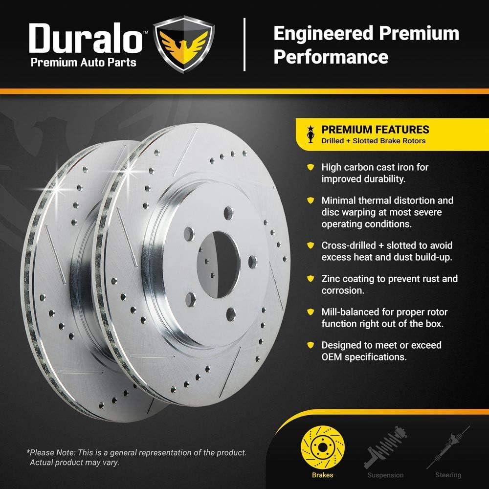 Duralo 152-2502 New Duralo Front Brake Rotor Set For Chevy Colorado GMC Canyon 2009 2010 2011 2012