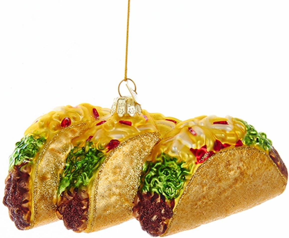 Kurt Adler Noble Gems Tacos Christmas Ornament