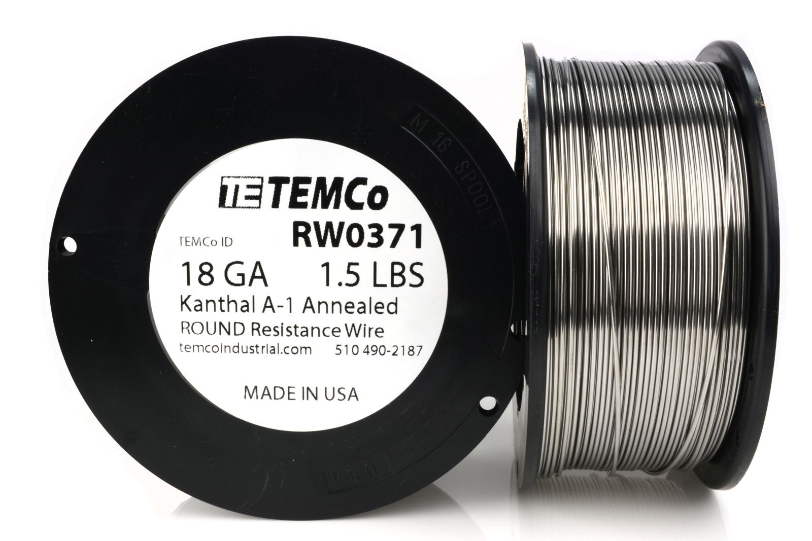 TEMCo Kanthal A1 wire 18 Gauge 1.5 lb (380 ft) Resistance AWG A-1 ga