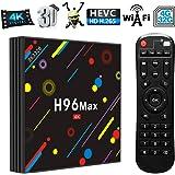 Android 7.1 TV Box H96 MAX H2 4GB + 32GB RK3328 Quad-Core Ultra HD Smart Set-Top Box,Support 2.4G / 5G Dual WiFi / 100M LAN Ethernet/BT 4.0/4 USB Ports