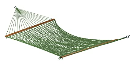 Hangit Polyester Green Rope Outdoor Hammocks furniture for Garden (55.00 IN)