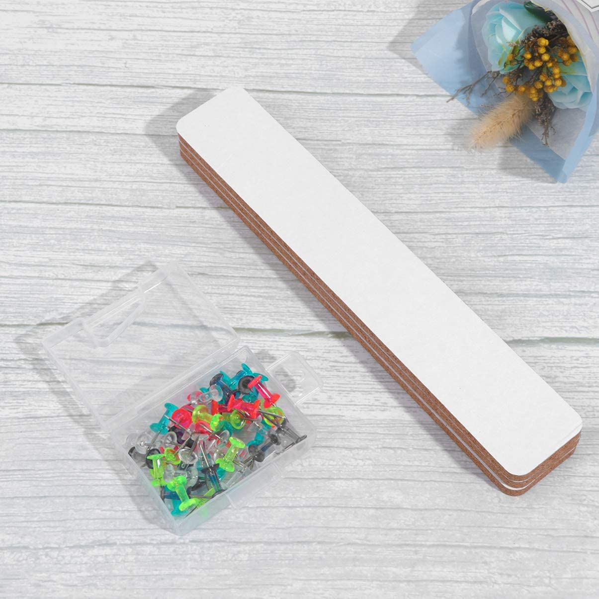 bacheca per esporre foto e messaggi in legno Stobok bacheca in sughero con spille colorate autoadesive