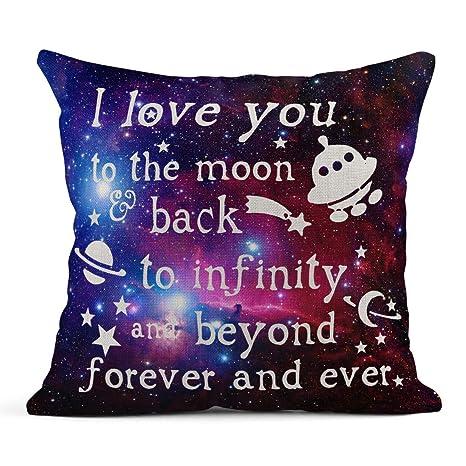 Kinhevao Cojín Te Amo a la Luna y Atrás Galaxy Space ...