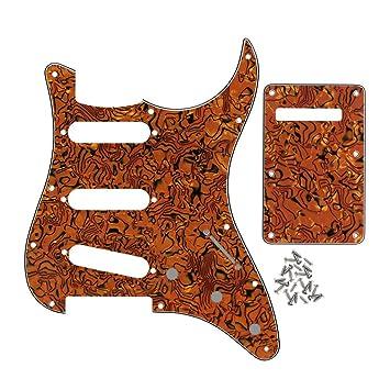 IKN – Guitarra eléctrica golpeador placa trasera Set, SSS 3 capas con tornillos de 25