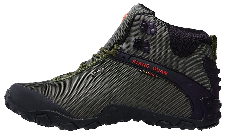 57d649e91be XIANG GUAN Men's Outdoor High-Top Oxford Water Resistant Trekking Hiking  Boots