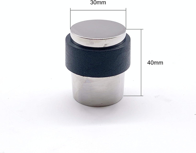 1 in acciaio inox lucidato di alta qualit/à Fermaporta a scomparsa a pavimento diametro 30 mm
