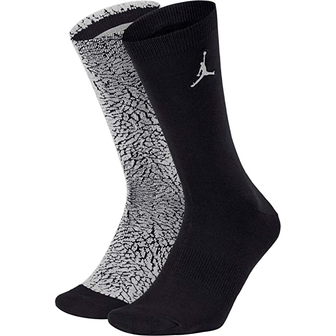 Nike Jordan Elephant Crew Calcetines, Hombre, White/Pure Platinum/Black, Small: Amazon.es: Deportes y aire libre