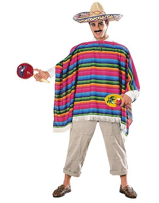 Costume Carnevale Travestimento Poncho e Sombrero Messicano - uomo   Amazon.it  Abbigliamento 0a1d2d2bb89c