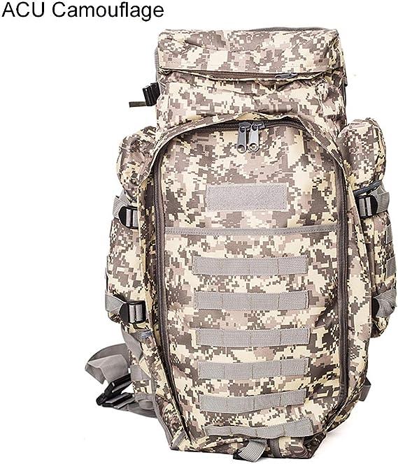 MLSice Rifle táctico Militar Mochila Hombres, 60L Hombro Grande ejército al Aire Libre Mochila Mochila Paquete Pistola táctica Bolsa Case-: Amazon.es: Deportes y aire libre