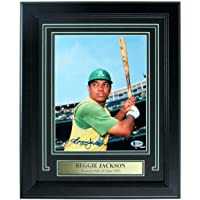 $198 » Reggie Jackson Athletics Signed/Autographed 8x10 Photo Framed Beckett 157099 - Autographed MLB Photos