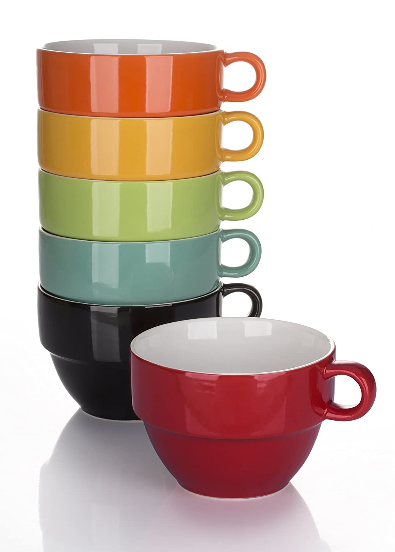Set of 6 Rainbow Stacking Jumbo Cups - 6 Colours: Amazon.co.uk ...
