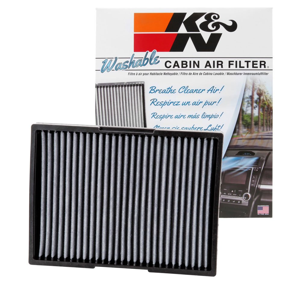 K&N VF2012 Washable & Reusable Cabin Air Filter Cleans and Freshens Incoming Air for your VW, Audi
