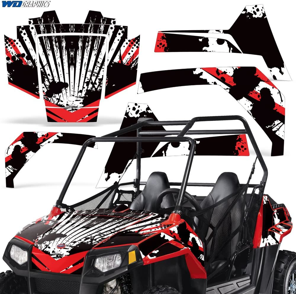 Wholesale Decals Polaris RZR 170 All Years Full UTV Graphics Decal Kit Off Road Race Design