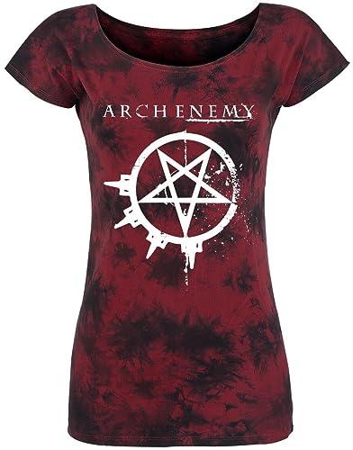 Arch Enemy Logo Camiseta Mujer Burdeos