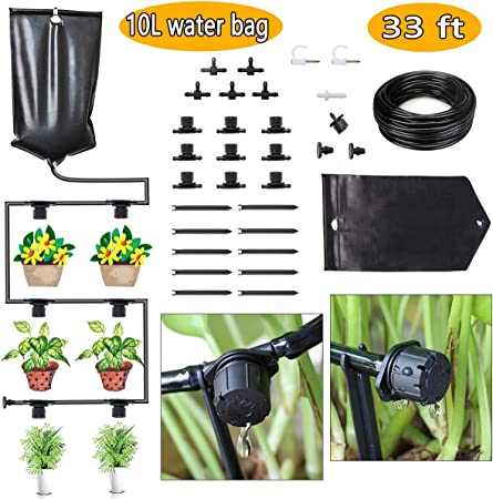FAMI HELPER Indoor Drip Irrigation Watering System Kits - 10L Water on plant tanks, plant water bags, plant protection bags, plant trees, hunting bags, plant seedlings, plant wall art, dog walking bags, plant pots bags, transplant trees woven bags, shopping bags, plant shrubs, plant growing bags, plant seeds bags, christmas tree removal bags, plant cutting bags, plant transport bags, plant propagation bags,
