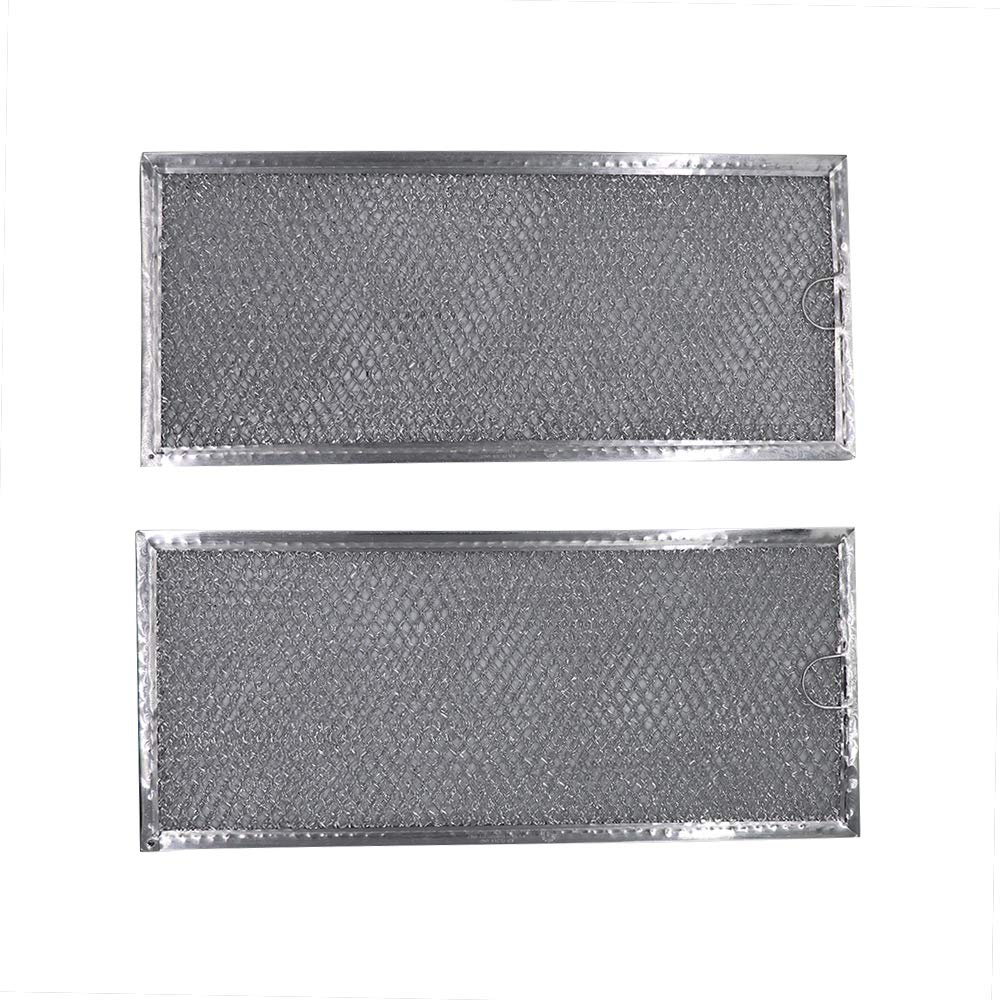 "AMI PARTS W10208631A Filter Aluminum Mesh Microwave Oven Grease Filter Compatible with Whirlpool, 2-Pack,12-15/16"" x 5-3/4"" x 1/16"""