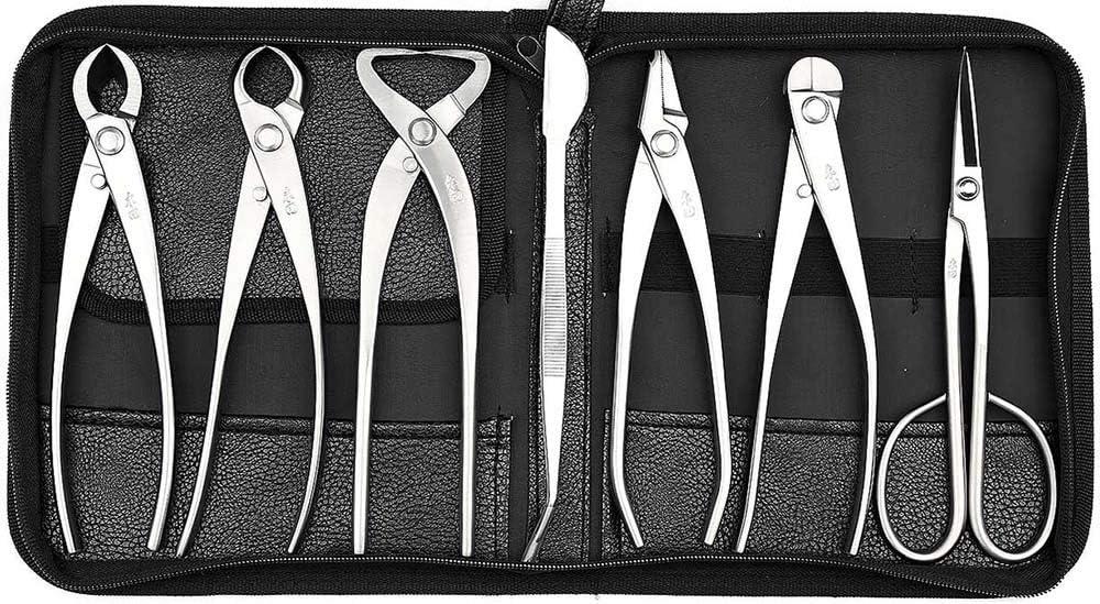 tianbonsai Professional Grade 7 PCS Bonsai Tool Set MTBT-06 from kit