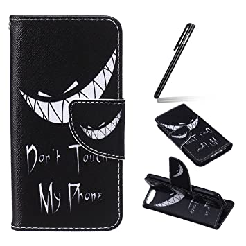 new product 9d672 aebe1 iPod Touch 6 Case,iPod Touch 5 Case,Leather Case for iPod Touch 6G /  5G,Ukayfe Black Wallet Case for iPod Touch (5th / 6th Generation),Flip Case  for ...