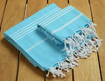 Sale% 50 Set de 2 cabeza y cuerpo toalla de turco juego de toallas –