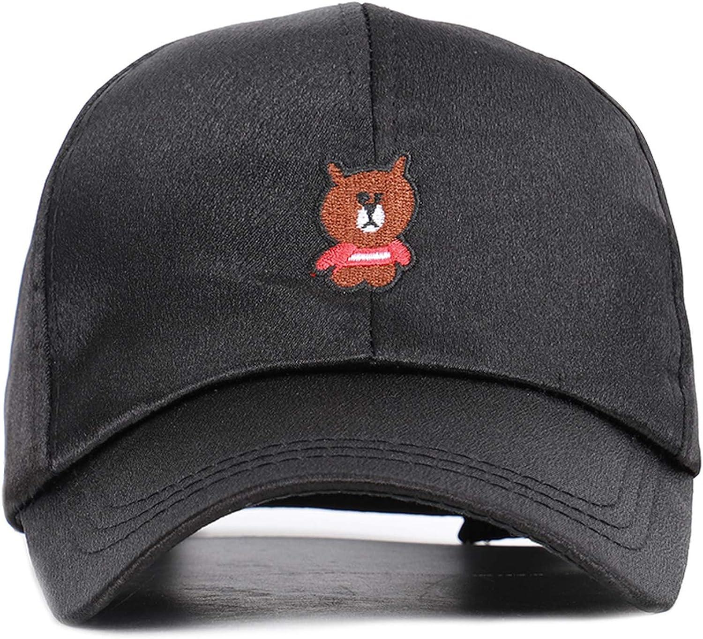 Cartoon Bear Embroidery Children Baseball Cap Boy Girl Universal Adjustable Outdoor Cute Pink Hat
