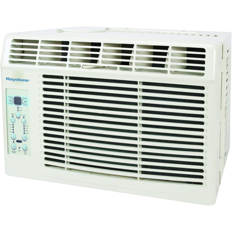 Keystone KSTAW06B Energy Star 6, 000 BTU Window-Mounted Air Conditioner with Follow Me LCD Remote Control, 115-volt
