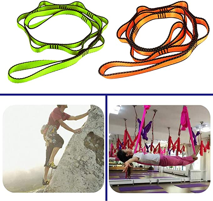 OMUKY Yoga Extender Belt Yoga Hammock Extension Strap Daisy Chain Fitness Pilates Stretch Belt Exercise Extend Strap Band