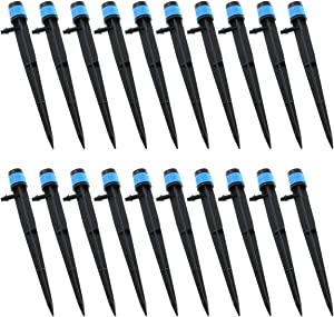 E-outstanding 20-Pack Irrigation Drippers 360 Degrees Adjustable Full Circle Type Micro Spray Drip Emitters Watering Sprinklers Garden Water Irrigation System Sprayers