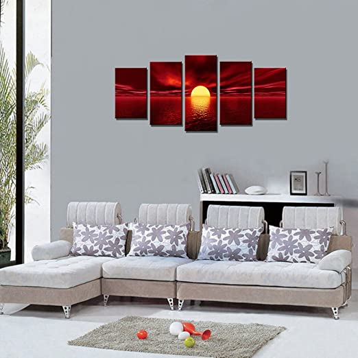Daring Bold And Modern Red Wall Art Home Wall Art Decor