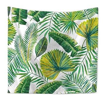 Plátano hojas tapiz palmera hojas pared colgantes de estilo bohemio Tapiz Toalla de playa decoración natural Manteles hippie tapiz indichen 79*59in ...